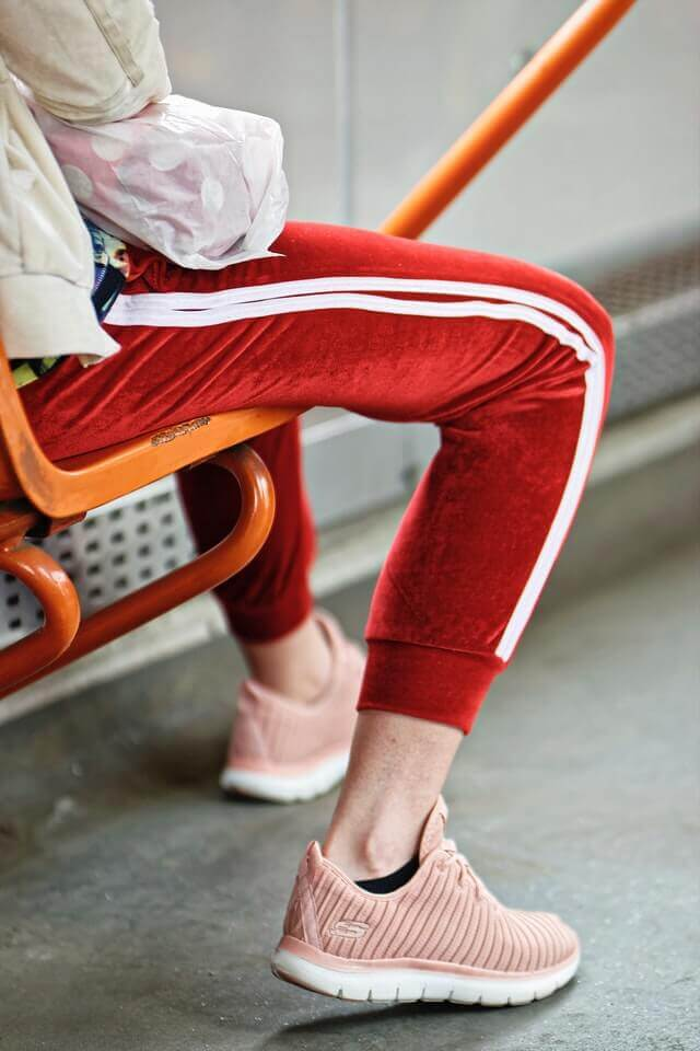 pink sweatpants and joggers